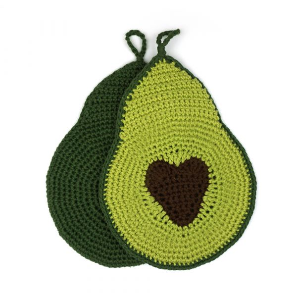 Avocado Topflappen ∙ mit Herz oder rundem Kern