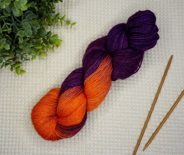 Purple Pumpkin ∙ Socks Basic 100g/420m