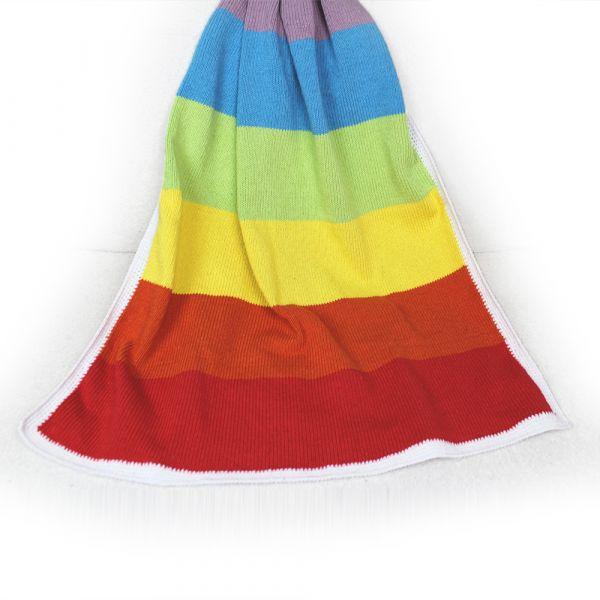 "Babydecke ""Rainbow"" ∙ personalisierbar"