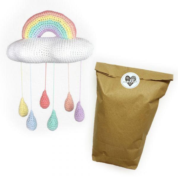 Regenbogen-Mobile ∙ Häkelset mit Anleitung & Wolle