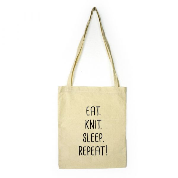Stofftasche ∙ eat.knit.sleep.repeat!